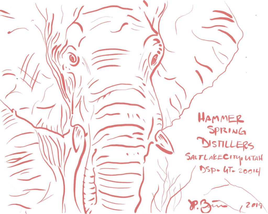 Elephant drawn by Hammer Disttilers' JP Bernier