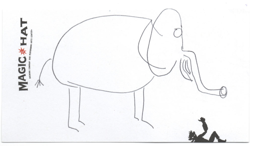 elephant crudely drawn by Magic Hat Brewing Company